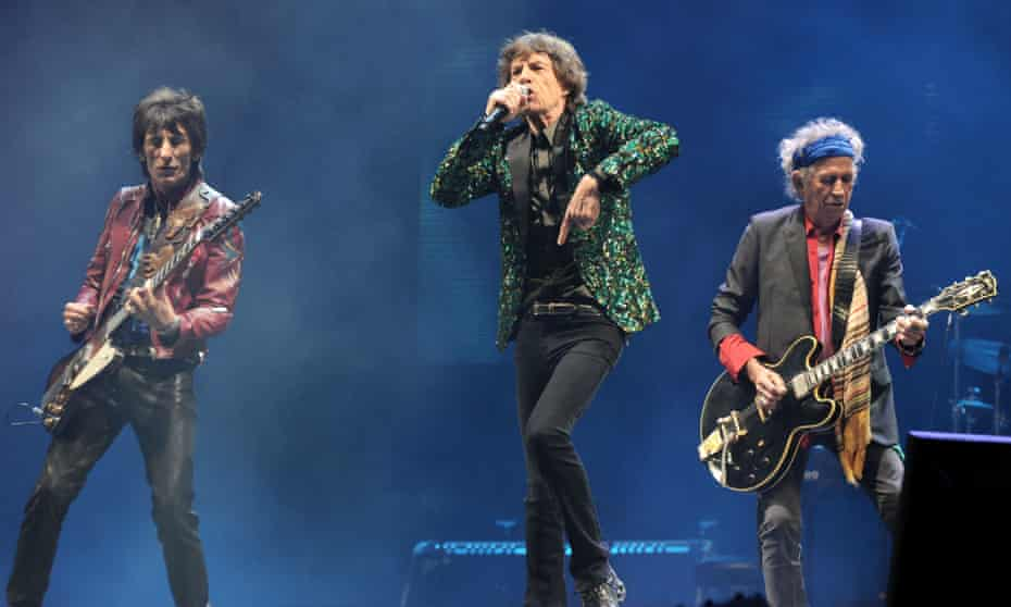 The Rolling Stones play the Glastonbury festival in 2013