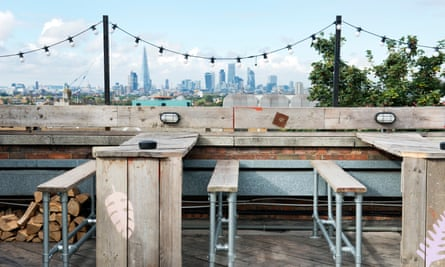 View from the roof of the Bussey building in London's gentrifying Peckham.