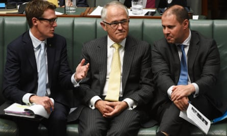 Christian Porter, Malcolm Turnbull and Josh Frydenberg
