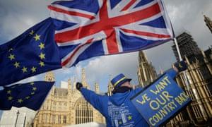 An anti-EU demonstration in London.