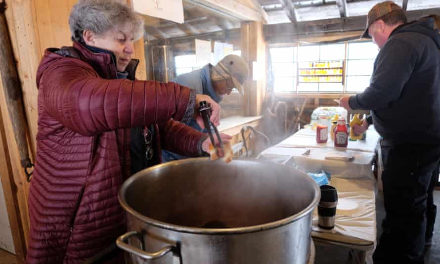 Maple sugar makers ply their trade at Morse Farm in Vermont.