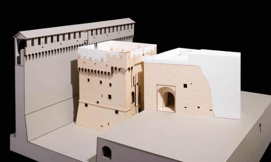 Model for a proposed restoration by David Chipperfield of Castello Sforzesco, Milan – the areas shown in white were in fact to be made of tonally sympathetic materials.