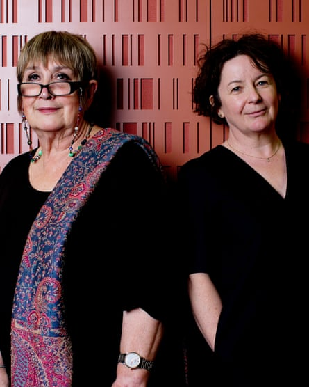 Outgoing Woman's Hour presenters Jane Garvey and Jenni Murray.