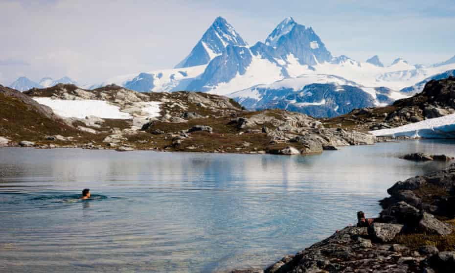 A lake at Bella Coola, British Columbia.