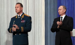 Viktor Zolotov with Vladmir Putin
