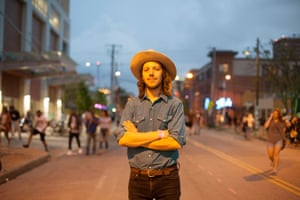 Tyler James from Nashville, Tennessee came down to play at SXSW with his indie folk band, Escondido.