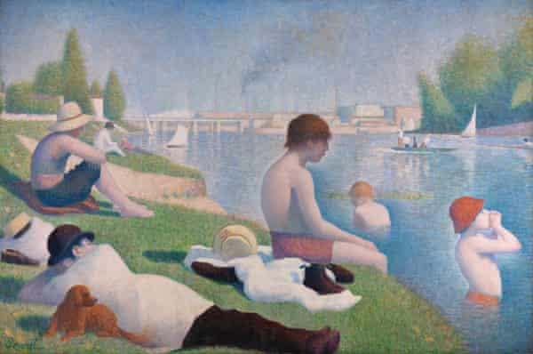Georges Seurat's Bathers at Asnières, 1884.