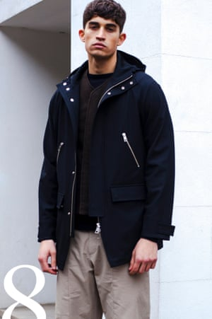 Parka, £575, layer vest, £340, T-shirt, £165, and trousers, £255, all Léon Bara, oki-ni.com