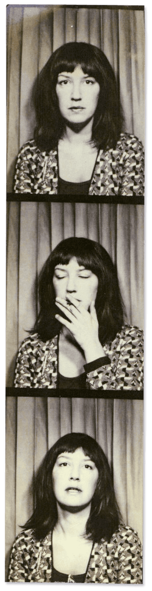 Eve Babitz in a photo booth