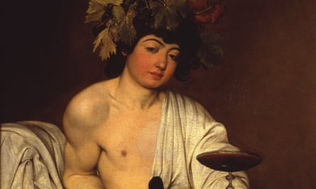 Bacchus, ca 1595, Caravaggio, Uffizi Gallery, Florence.