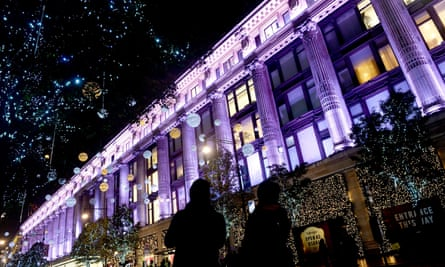 Shoppers on Oxford Street on 7 November.