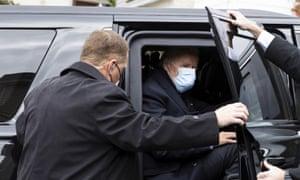 Joe Biden with Secret Service agents