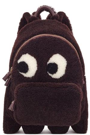 Shearling backpack, £1795, by Anya Hindmarch.