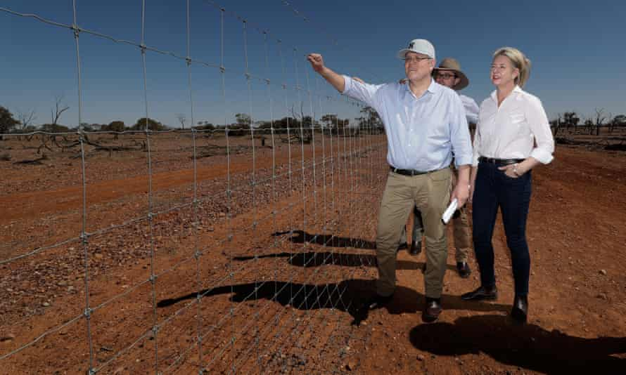 Scott Morrison, minister for agriculture David Littleproud and then sport minister Bridget McKenzie.