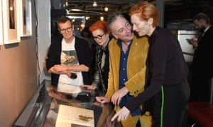 From right: Tilda Swinton, Seamus McGarvey, Sandy Powell and Simon Fisher Turner attend a screening of Derek Jarman's The Garden earlier this month to raise awareness of the campaign to save Prospect Cottage
