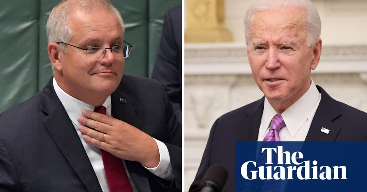 Scott Morrison's first call with Joe Biden covers China Covid and climate – The Guardian