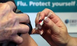 A flu vaccination