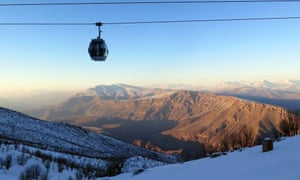 Iraq's sole ski lift, at the Korek Mountain resort.