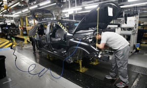 Workers at Nissan's plant in Sunderland. Philip Hammond has been accused of a 'sweetheart deal' to keep the carmaker in the north-east.