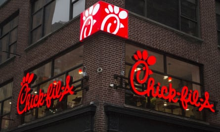 A Chick-fil-A branch in New York