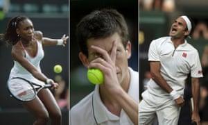 Venus Williams, Tim Henman and Roger Federer in SW19.