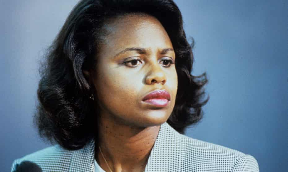 Workplace abuse … Professor Anita Hill accused a US supreme court nominee of sexual harassment in 1991.