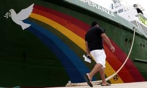 Greenpeace's campaign ship Esperanza