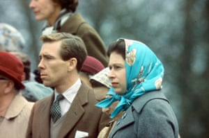 With Princess Margaret and Queen Elizabeth II