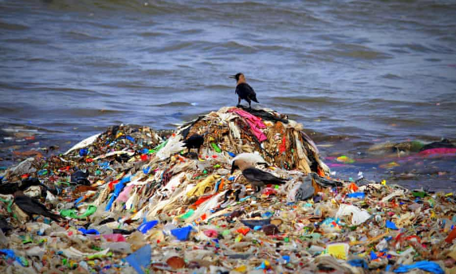 Most of the rubbish that washes up is plastic