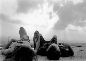 Stone Mountain, GA (couple lying on rock), 1994