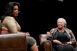 With Oprah Winfrey at the Carl Sandburg literary awards dinner at the University of Illinois in Chicago, 2010