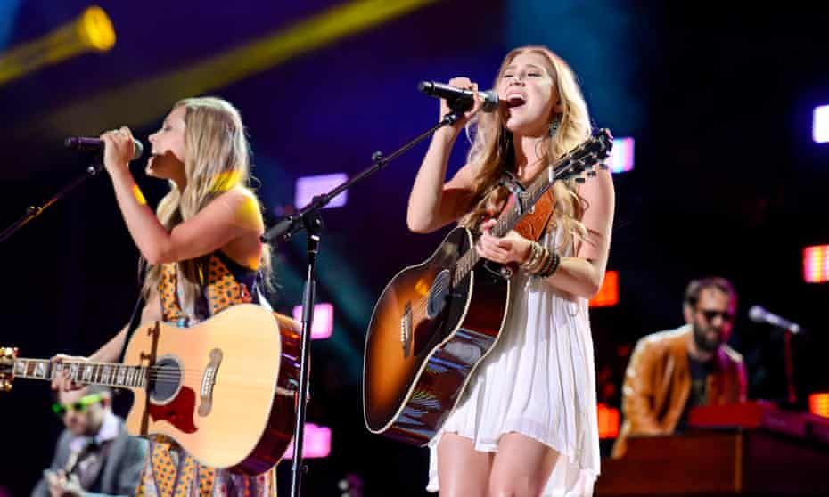 Nashville country music duo Maddie & Tae performing in the city's CMA Fest.