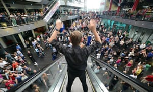 Lang's Crowd Out at its premiere at Birmingham's Millennium Point
