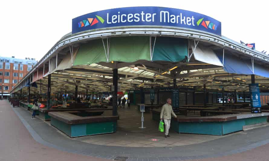 The deserted market in Leicester.