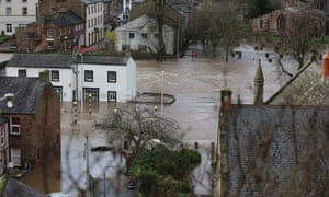 Appleby, Cumbria after Storm Desmond in December 2015