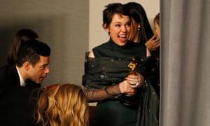 'This is hilarious – I've got an Oscar!' … best actress winner Olivia Colman.