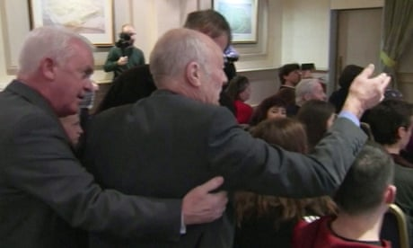 'This is your democracy, is it?' Jeremy Corbyn heckled in Dundee – video