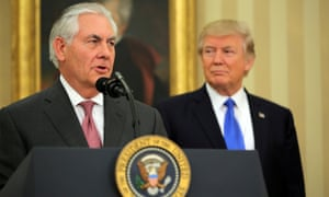 Tillerson has been repeatedly absend from Trump's meetings with fellow heads of government and excluded from key decisions, such as the notorious travel ban