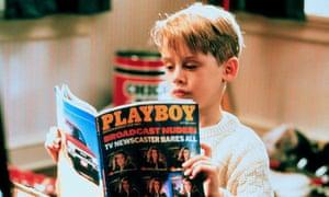 Macaulay Culkin reading Playboy in Home Alone