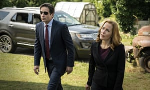 David Duchovny and Gillian Anderson: much of the material in the original X-Files is now on the web.