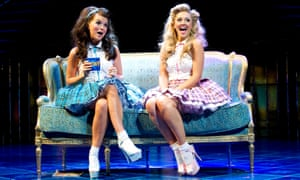 Nerissa (Emily Plumtree) and Portia (Susannah Fielding) in the RSC's 2011 production of The Merchant Of Venice, set in Las Vegas.