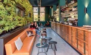 Innovative: the bar at Conscious Hotel.