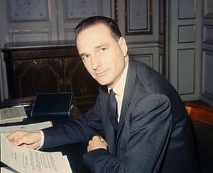 The then deputy of the département of Correze seen in his office in 1967