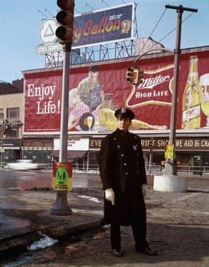 Policeman, 59th Street, 1964, New York