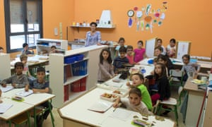 A class from the San Frantzisko public primary school