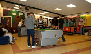 Society off diary, playing pool in a Youth Club From Clubs for Young People,