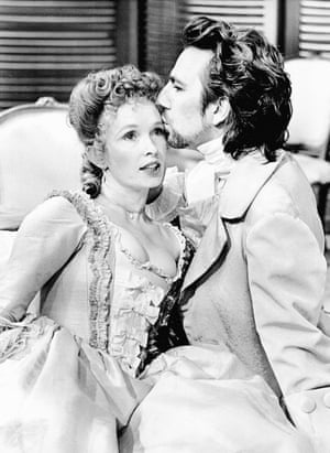 "In the 1986 production of Dangerous Liaisons, the Guardian review said that Rickman ""slips sly and inscrutable through the action like a cat who knows the way to the cream""<br>"
