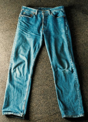 A pair of Levi's 501 jeans.