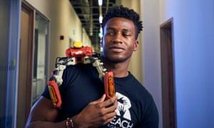 Silas Adekunle and Robot2