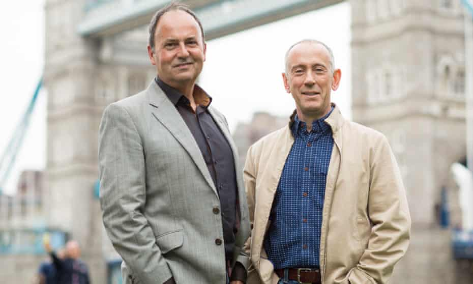 Nick Starr and Nicholas Hytner by Tower Bridge in 2012. Their Bridge theatre opened nearby in 2017.